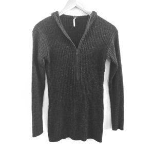 Free People Hoodie Wool Sweater